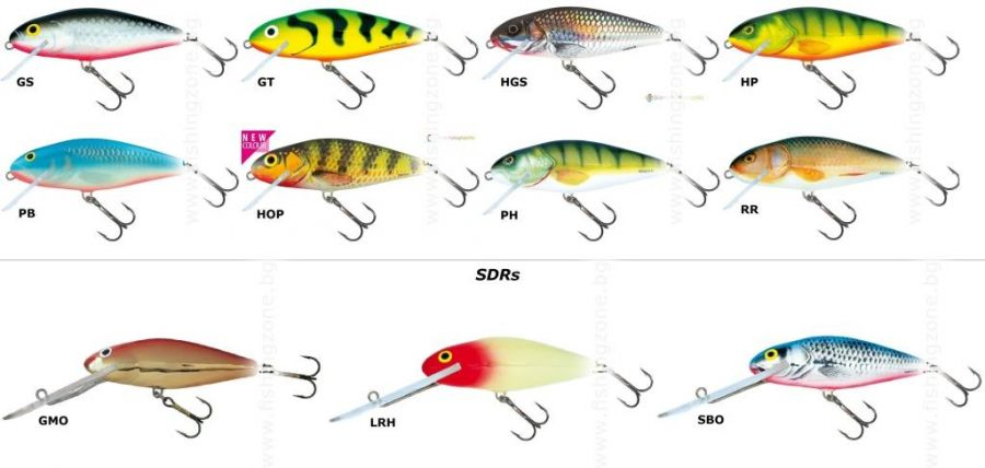 salmo perch 8 sdr | color : sbo | , hard lures - salmo, fishing zone, Hard Baits