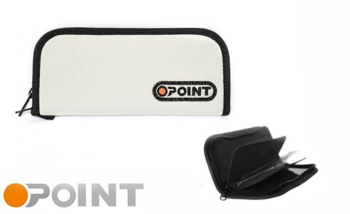 Orange Point Wallet White