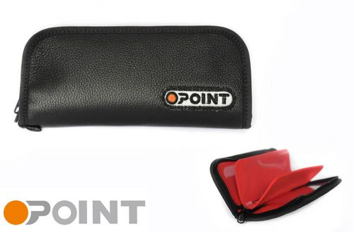 Orange Point Wallet Black