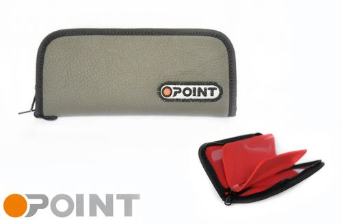 Orange Point Wallet Grey