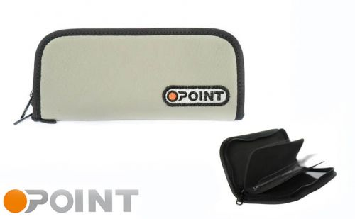 Orange Point Wallet Light Grey