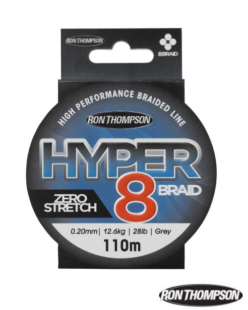 R.T. Hyper 8-Braid 110m 0.13mm 7.2kg-16lb Dark Grey