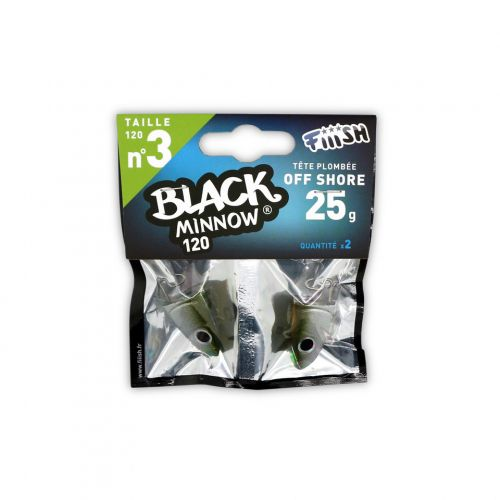 Fiiish Black Minnow Jig Head 25g Off Shore